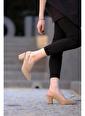 Oksit Florin Emma Toka Detaylı Topuklu Ayakkabı Camel
